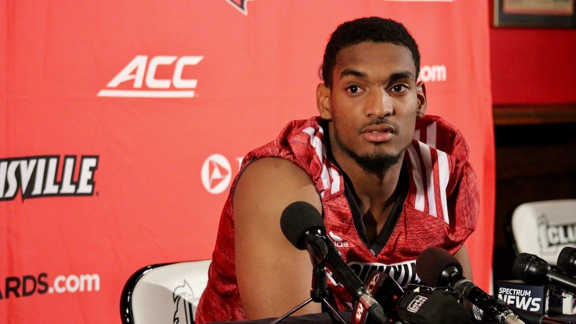 Reggie Bonnafon speaks with reporters (WDRB photo by Eric Crawford)