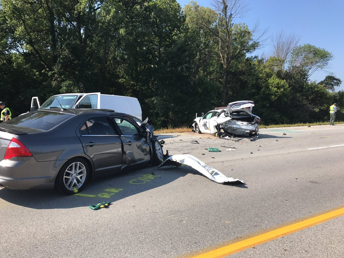 Trooper badly hurt when hit during traffic stop