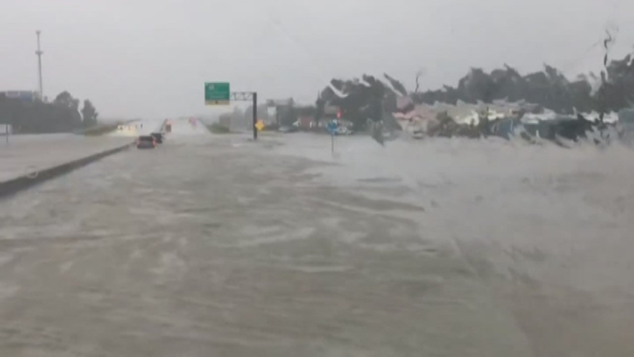 Floodwaters have buried much of south Texas in several feet of water.