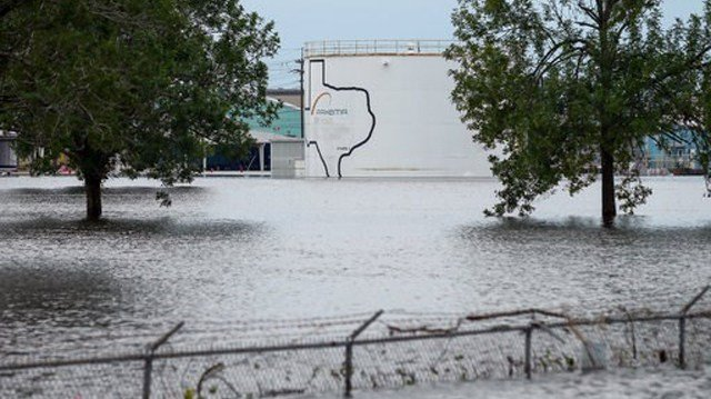 (Godofredo A. Vasquez/Houston Chronicle via AP). The Arkema Inc. chemical plant flooded from Tropical Storm Harvey, Wednesday, Aug. 30, 2017.