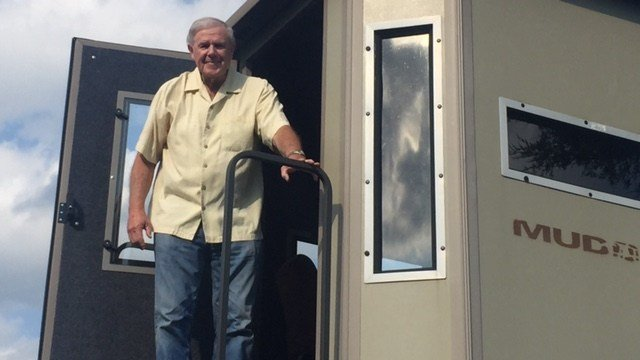Less than a week after suffering a stroke, Denny Crum returned to one of his favorite spots -- a deer stand.