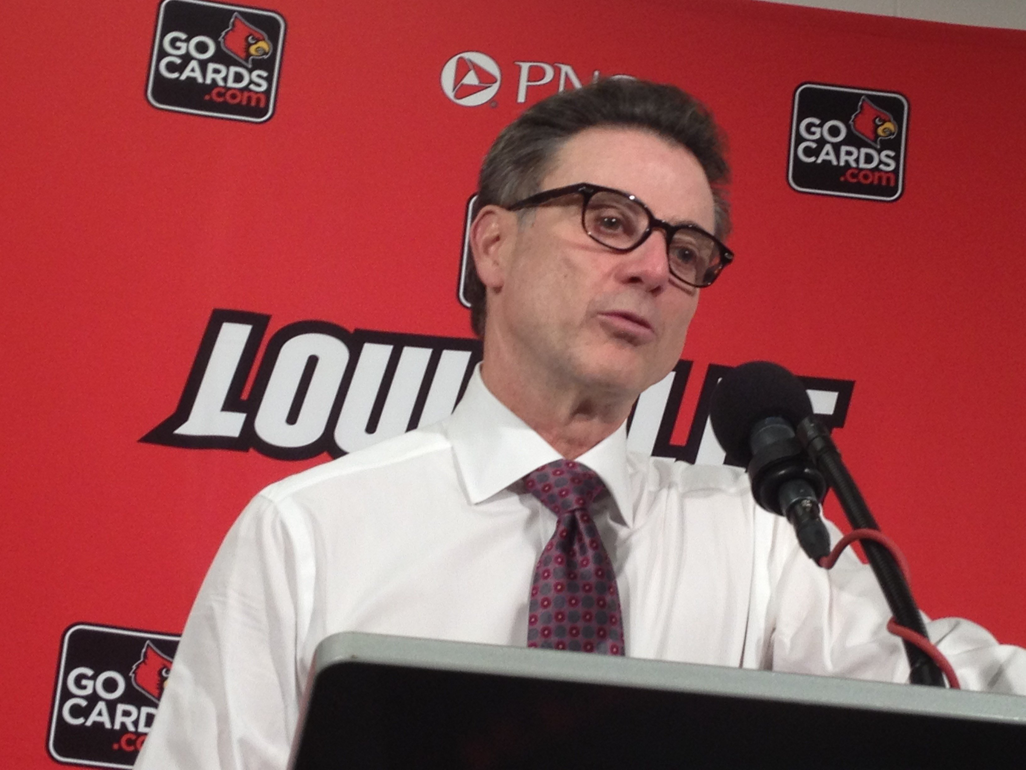 Rick Pitino says that Kentucky, Seton Hall, Purdue and Indiana will test Louisville outside the ACC.
