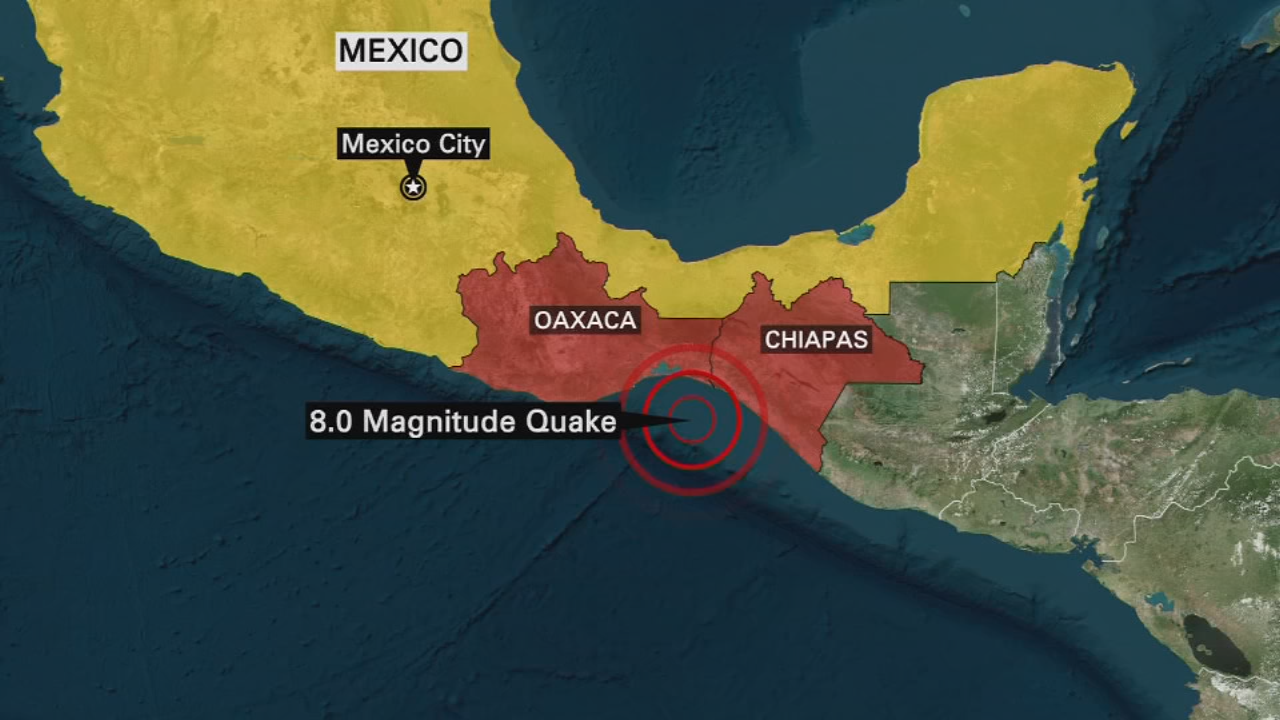 Strong Earthquake Strikes Off Of Coast Of Mexico
