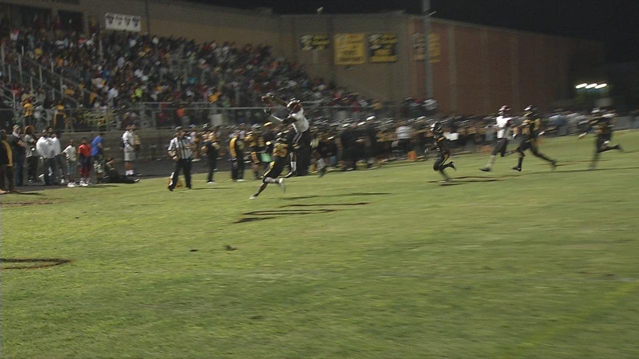 Mike's Best Play: Ballard Bruins QB Terrance May, able to get rid of it in the nick of time. Marshon Ford makes the catch, then somehow holds on, take one more look, and it's worth it.