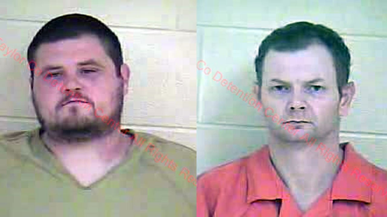 Coty Bray and Davey Hooper (Source: Taylor County Detention Center)