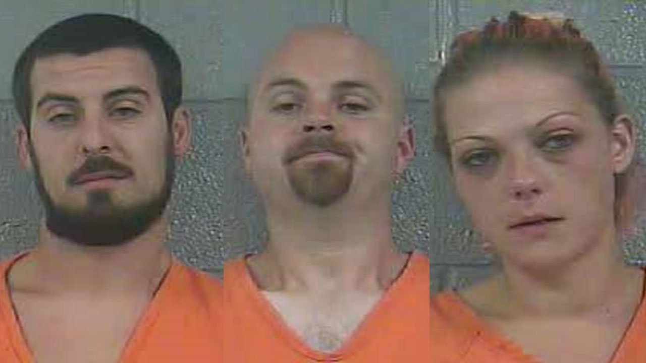 Christopher Meisel, James Hoagland and Amanda Mattingly (Source: Bullitt County Detention Center)