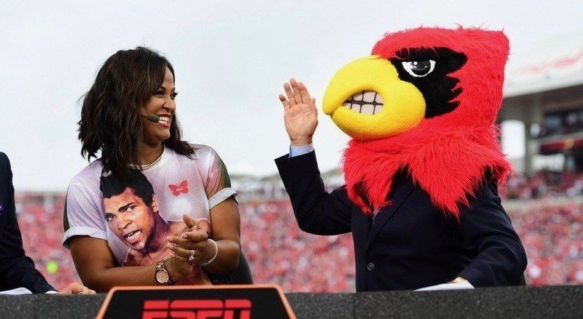 Lee Corso, with Laila Ali, picked Louisville to defeat Florida State last season.