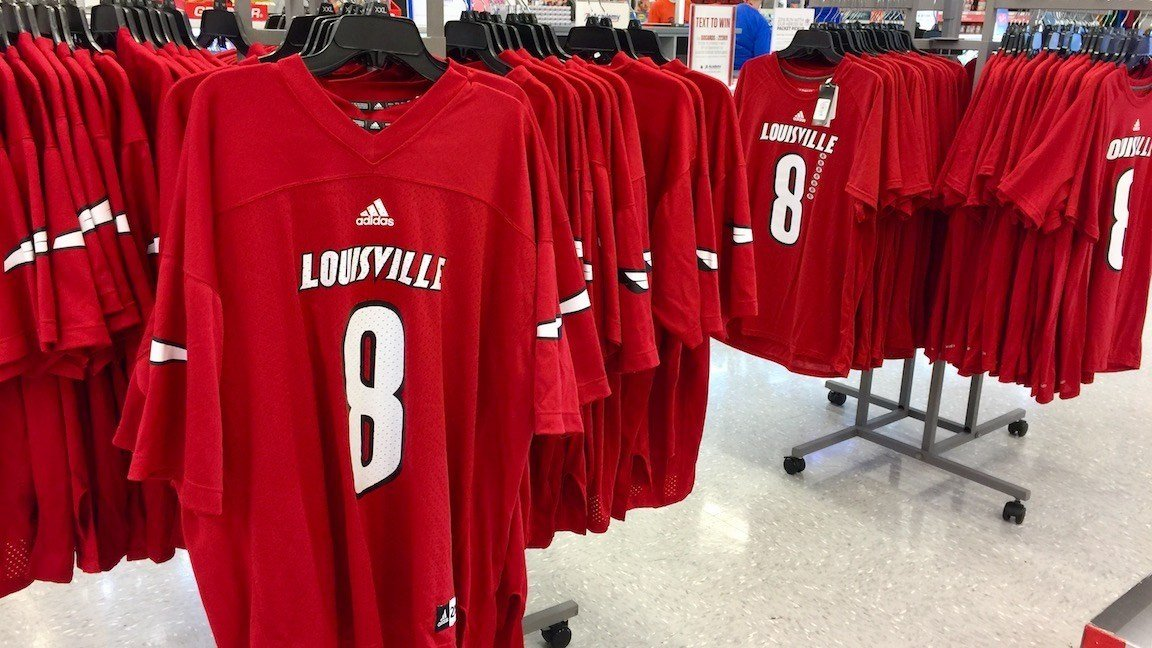 Jerseys similar to these were allegedly stolen by Lee Jeffrey.