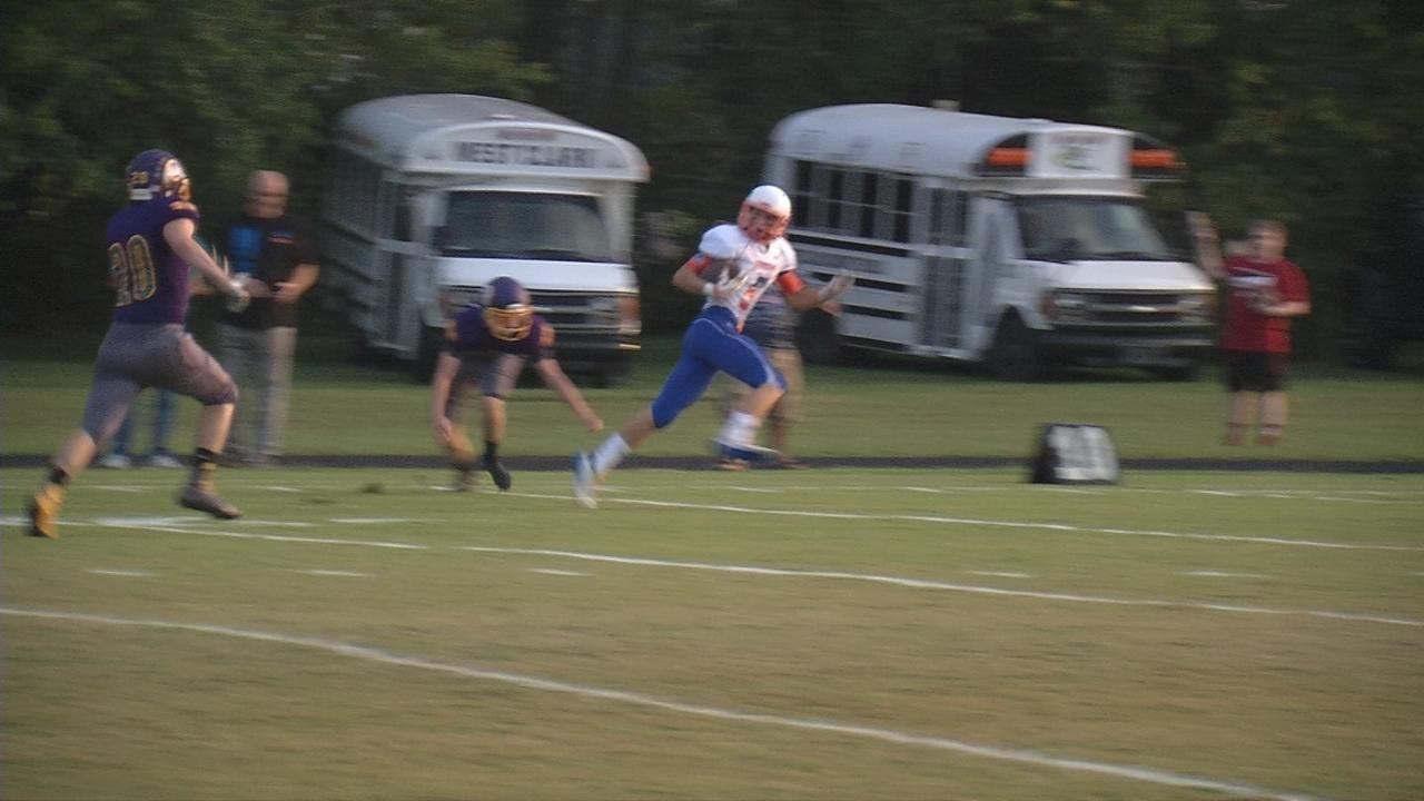 Mike Lacett's Play: This one comes from Silver Creen's Dylan Witt. During the opening kickoff against Scottsburg, he found an opening and he took advantage. 75 yards to the house.