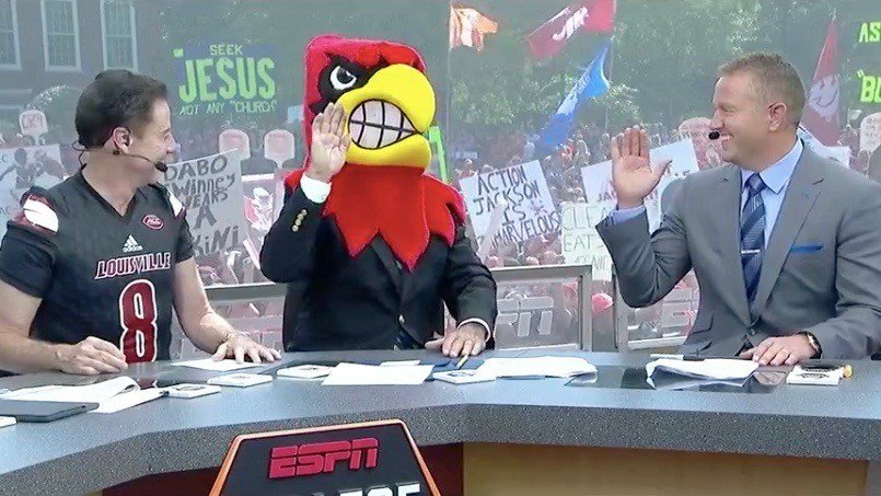 Lee Corso picked the Cardinals during the ESPN Saturday Selections segment.