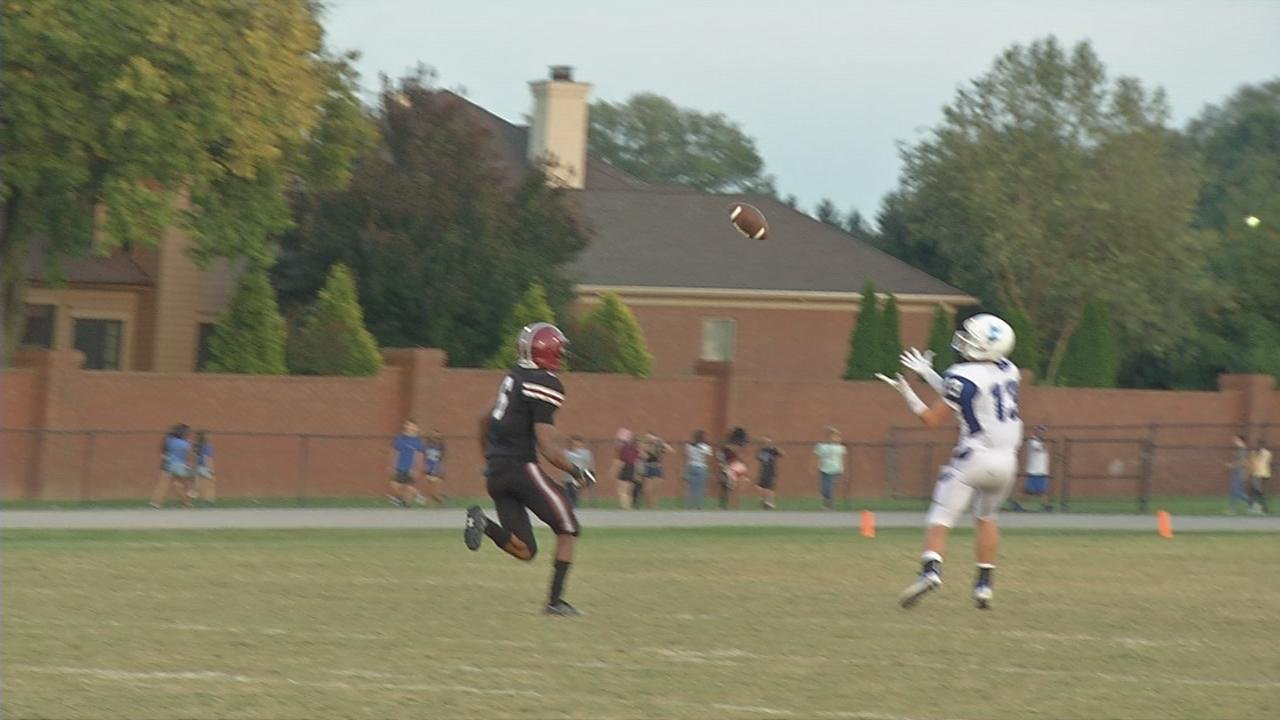 Eastern's swung it to Charles Morris, who completed the trick play with a 48-yard touchdown to Bryce Williams.