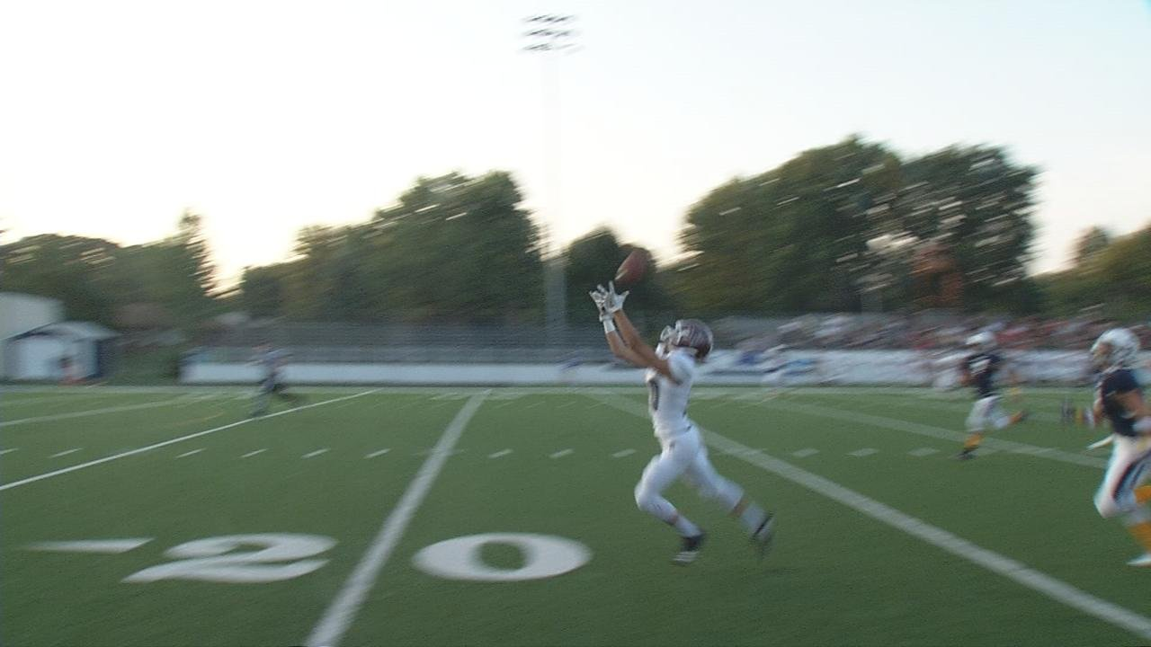 Providence's Mario Convenuto took a pitch in the backfield and threw it to Zach Meiman for a 52-yard touchdown.