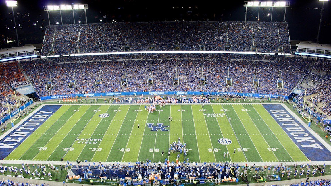 The Kroger Field crowd for Kentucky's game Saturday against Florida. (WDRB photo by Eric Crawford)