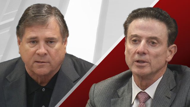 Jurich, left, and Pitino