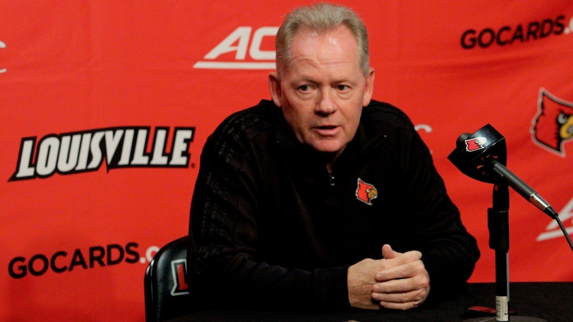 Bobby Petrino said that Louisville had more injuries to deal with this week before the Boston College game. (Eric Crawford photo)