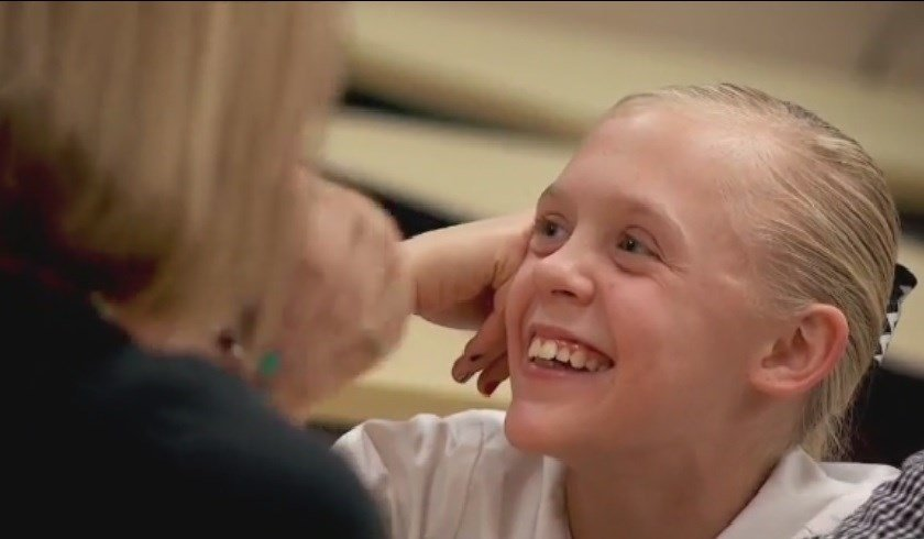 Emotional video captures moment 11-year-old girl learns she's been adopted