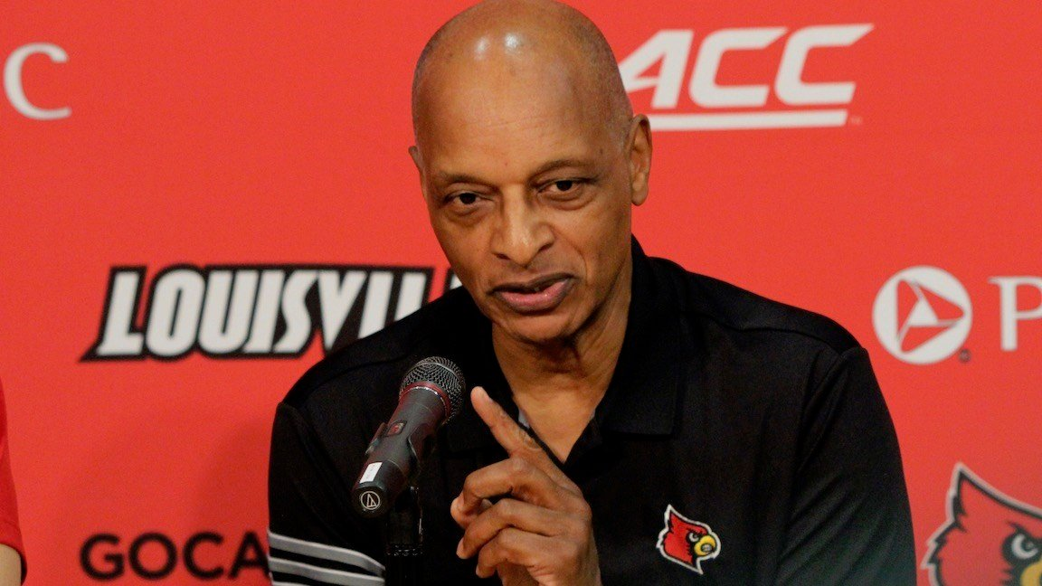 New Louisville assistant basketball coach Trent Johnson. (WDRB photo by Eric Crawford)