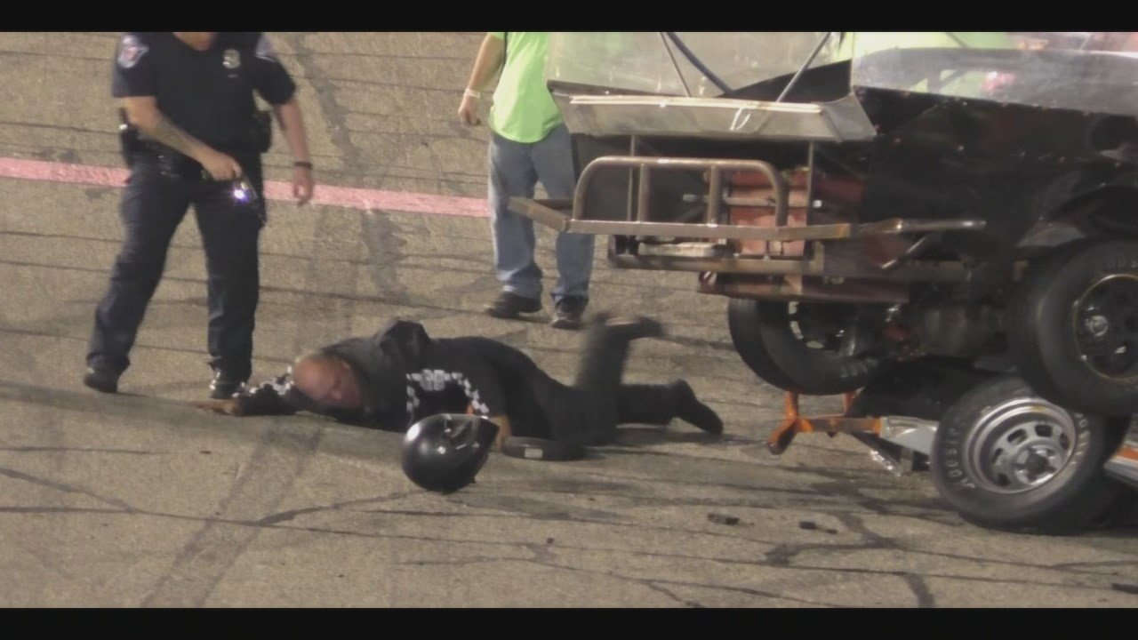 Race vehicle drivers fight after crash, video goes viral