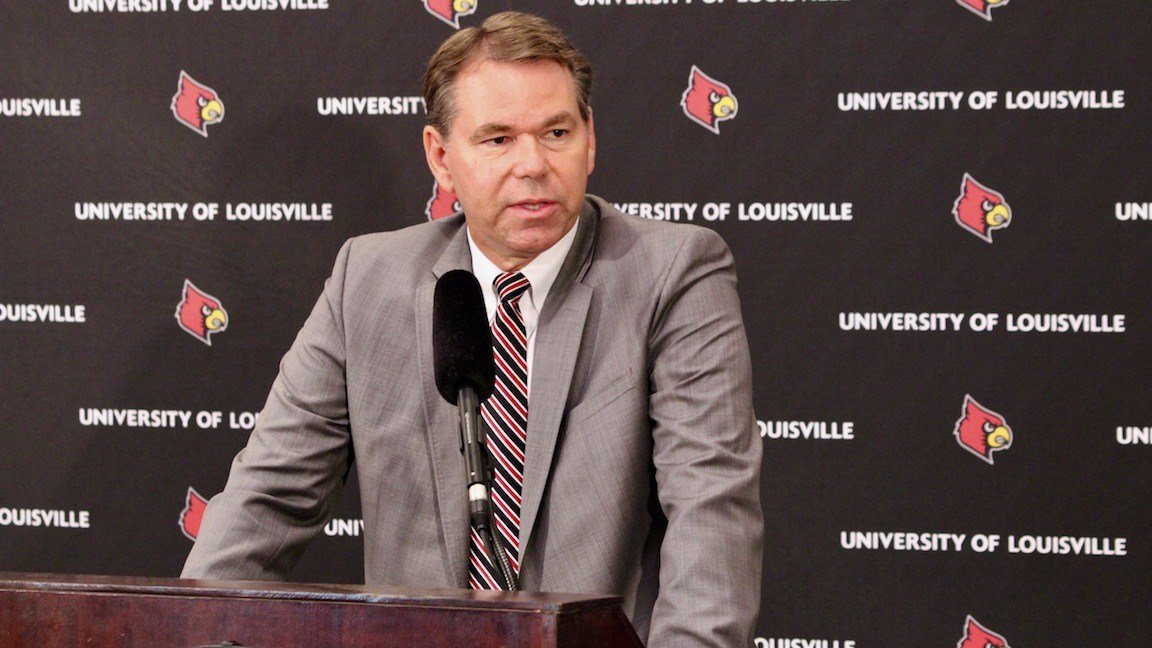Louisville interim athletic director Vince Tyra (WDRB photo by Eric Crawford)