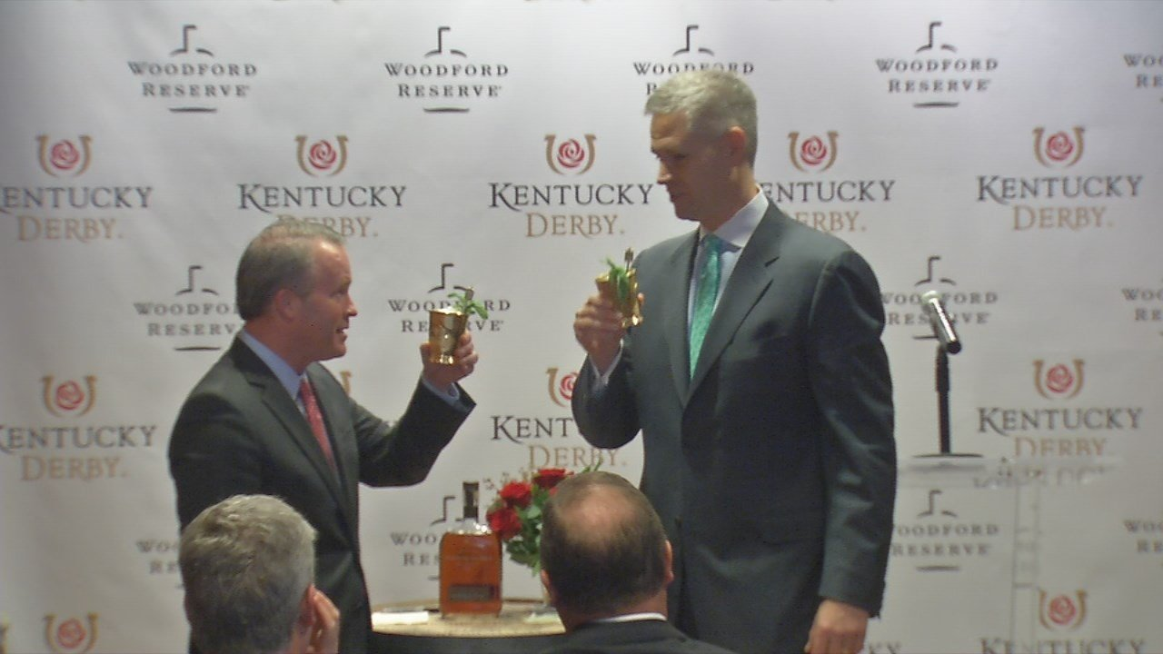 """Woodford Reserve, the premium bourbon brand of Louisville-based Brown-Forman Corp., is the new """"presenting sponsor"""" of the Kentucky Derby through 2022."""