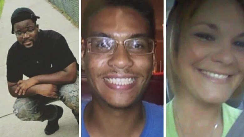 From left, Benjamin Mitchell, Anthony Naiboa and Monica Hoffa were killed within 11 days in a Tampa, Florida, neighborhood. (Image Courtesy: CNN)