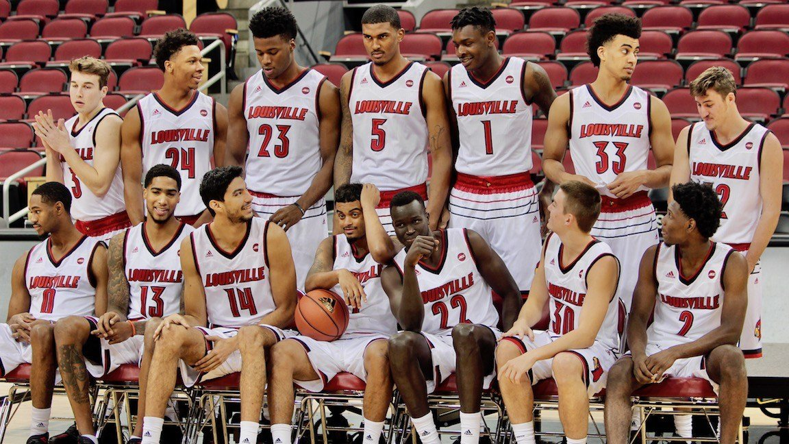 The Louisville basketball players enjoyed Media Day Sunday. (Eric Crawford photo)