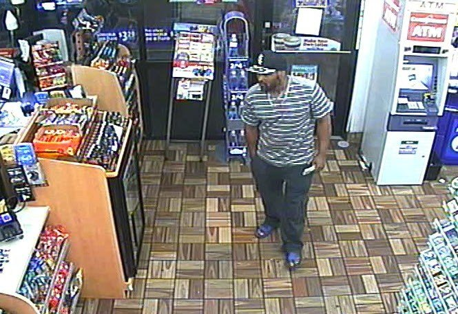 Surveillance photo taken Oct. 4 of robbery suspect from the Speedway at 4900 Outer Loop.