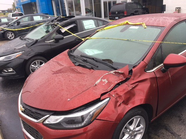 Only 3 of 13 cars damaged in a freak accident at the Big M Chevy in Radcliff on Nov. 1, 2017 will be sold for a deep discount.