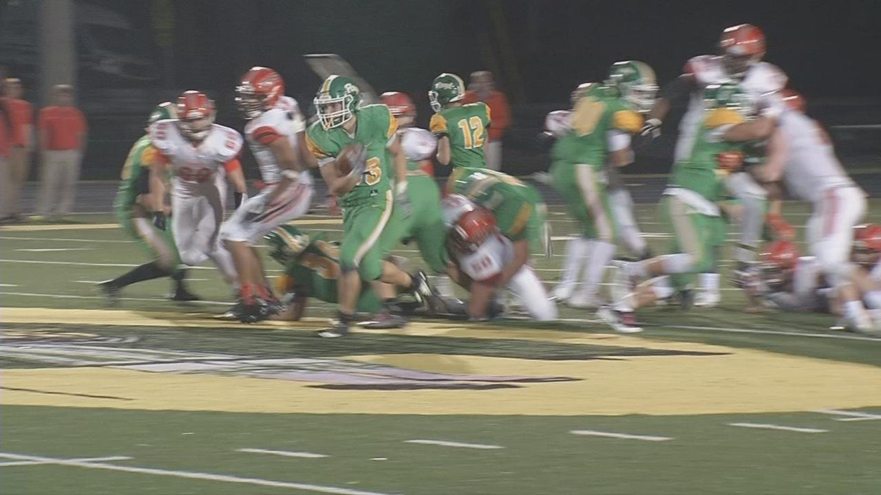 Floyd Central's Jason Cundiff runs 60 yards for touchdown in a loss to Columbus East.