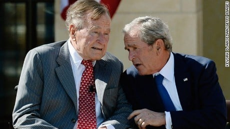 George HW Bush said to have called Trump a 'blowhard'