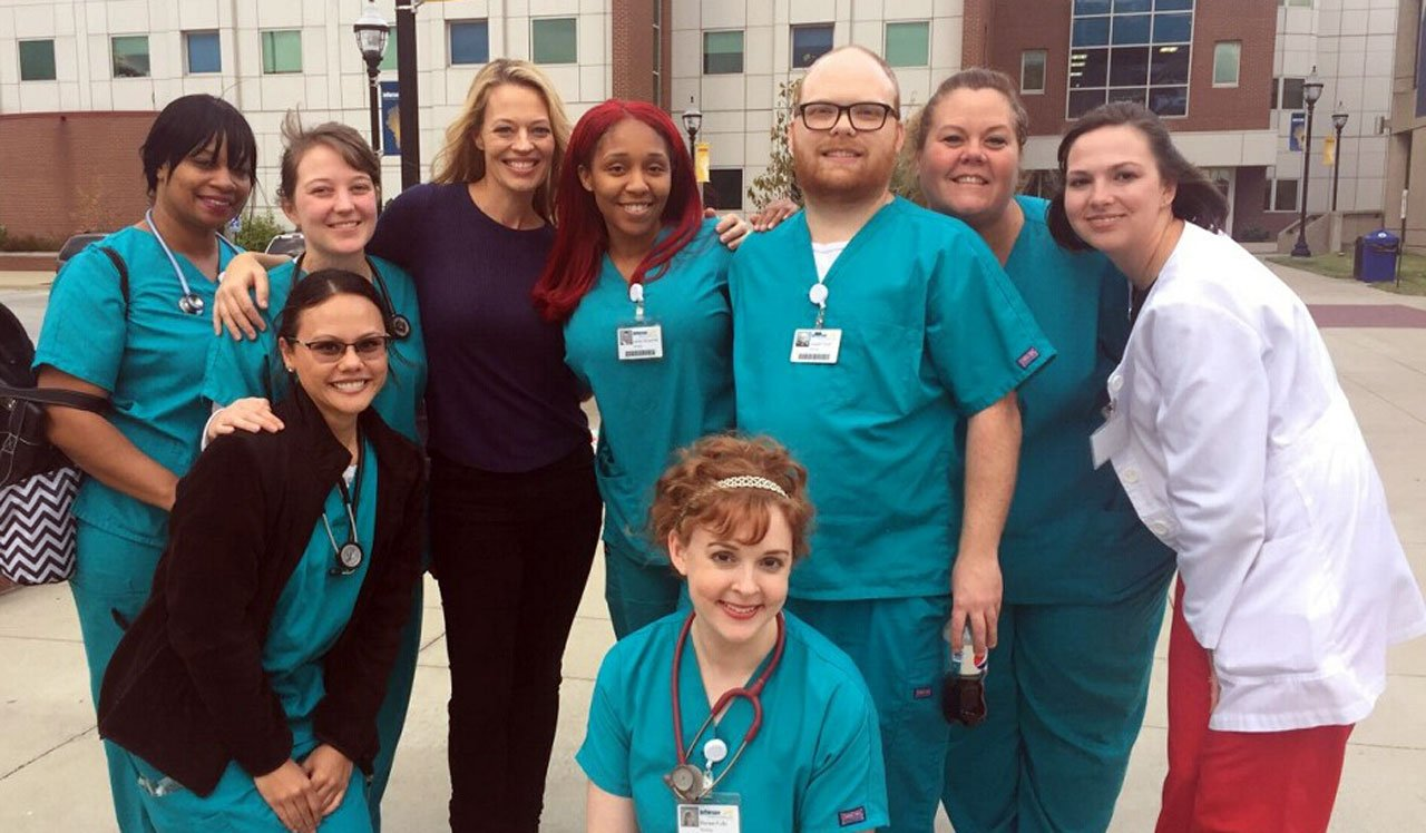 Actress Jeri Ryan was at Jefferson Community & Technical College's downtown campus over the weekend to shoot a movie, according to a spokesperson for the school. (Photo provided by Jefferson Community & Technical College)