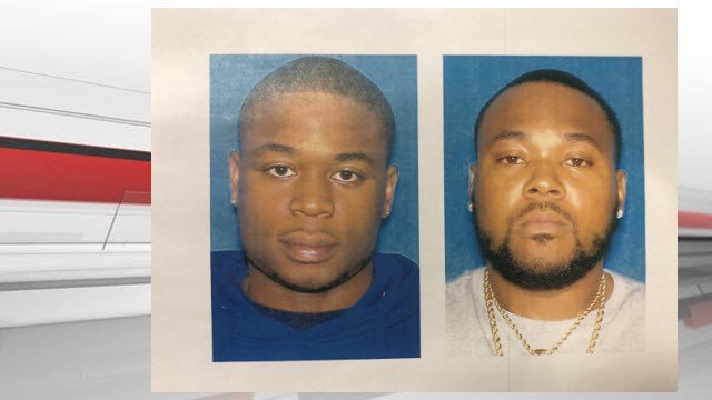 Michael Baines III (left) of Jeffersonville, Ind. has been arrested, but police are still searching for Robert Sheckles Jr.