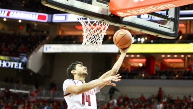 Anas Mahmoud scored two of his six points as Louisville defeated George Mason. (Eric Crawford photo)