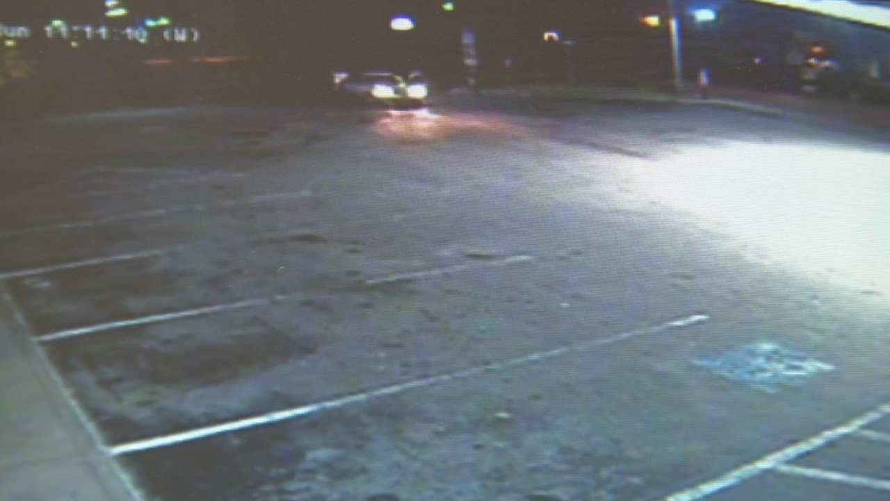 A still frame from surveillance video shows the parking lot of the New Albany gas station where Eddie Hamilton was shot on Nov. 5, 2017.
