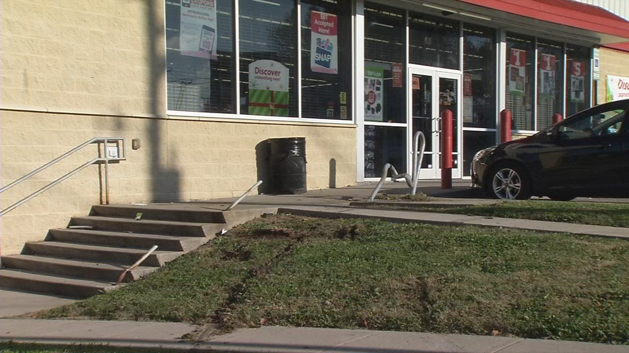 The Family Dollar on Winkler Avenue, where a man and woman were found shot Monday night.