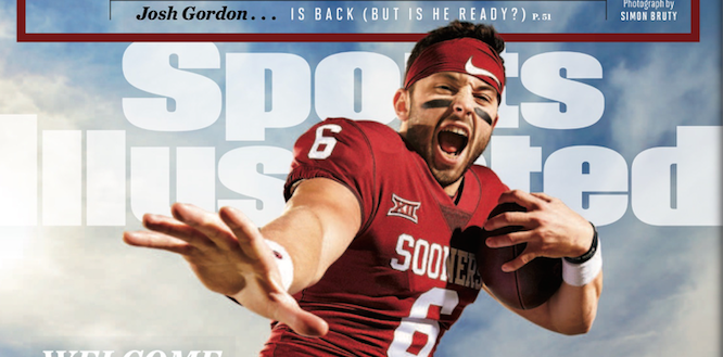 Oklahoma quarterback Baker Mayfield is cruising to the 2017 Heisman Trophy.