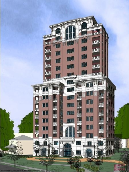 Willow Grande is a 15-story condo tower proposed for Willow and Barringer avenues.