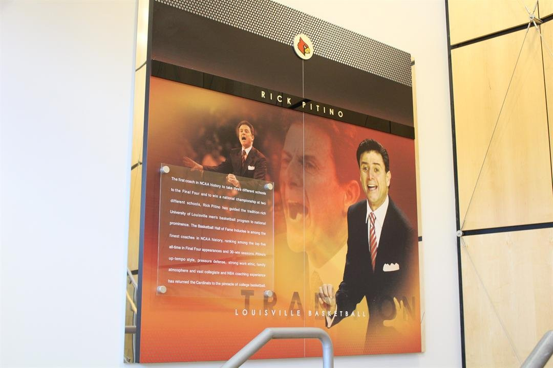 This picture of Rick Pitino was taken down sometime this week at Louisville's practice facility