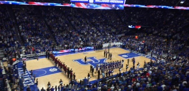 Kentucky labored for 30 minutes before putting away a 3-6 Harvard team at Rupp Arena Saturday.