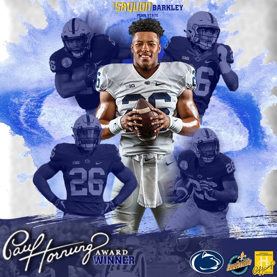 Penn State's Saquon Barkley wins Silver Football award