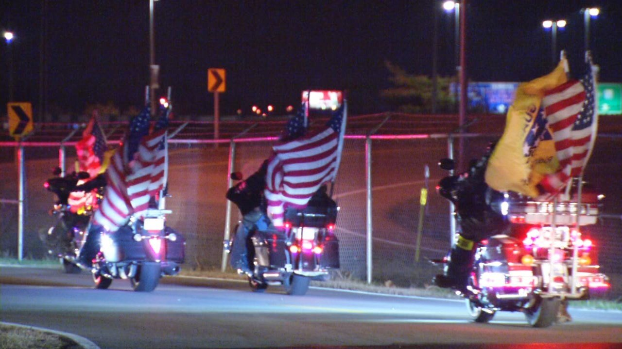 Crowder's remains were escorted from Louisville International Airport to Resthaven Funeral Home.