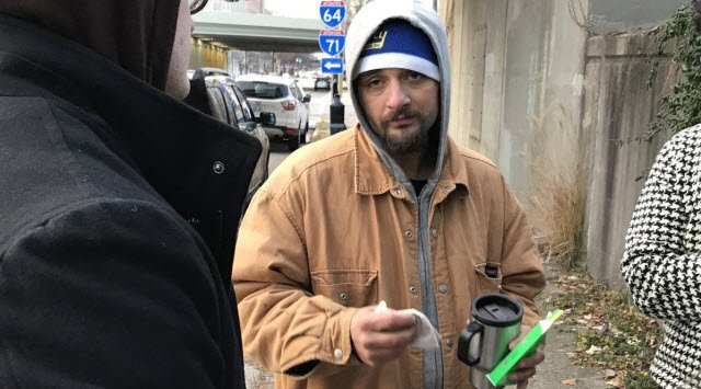 Daniel McStoots was one of the last people to leave a homeless camp cleared out by the city on Dec. 8, 2017.