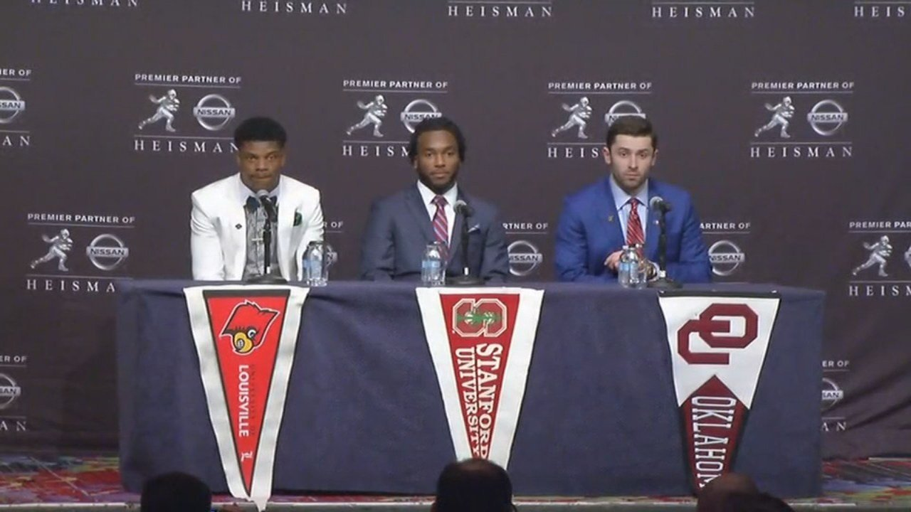 The three Heisman finalists spoke to reporters Saturday at a press conference before the big announcement.