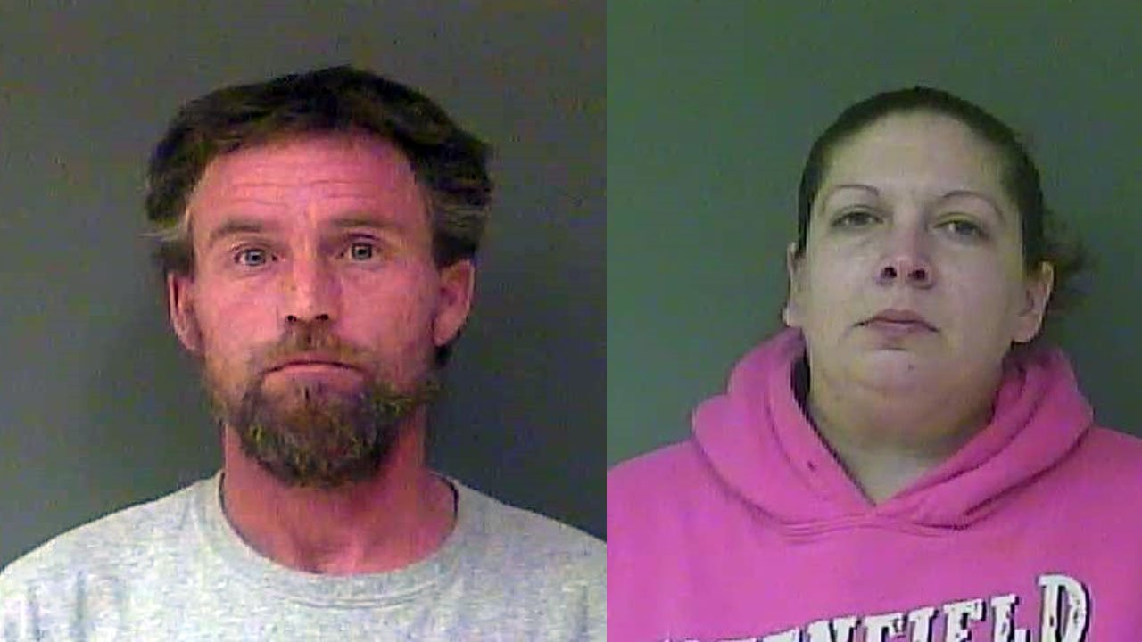 Heath Kimberlin and Pearl Holland (Source: Hancock County Detention Center)