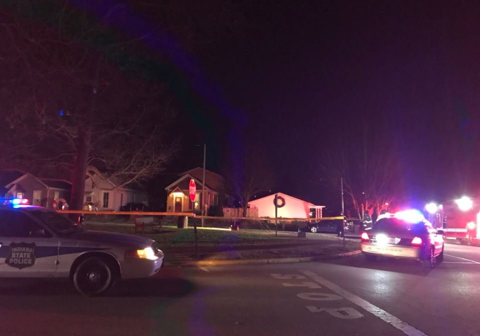 A traffic stop near the corner of West Park Place and Jefferson Street in Jeffersonville turned violent when a suspect shot an Indiana State Trooper.