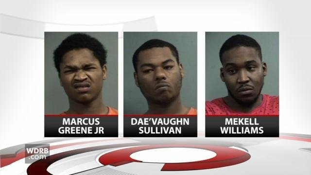 Marcus Greene, Jr., Dae'Vaughn Sullivan, and Mekell Williams are charged with wanton endangerment in connection with several shootings in Louisville Tuesday afternoon.