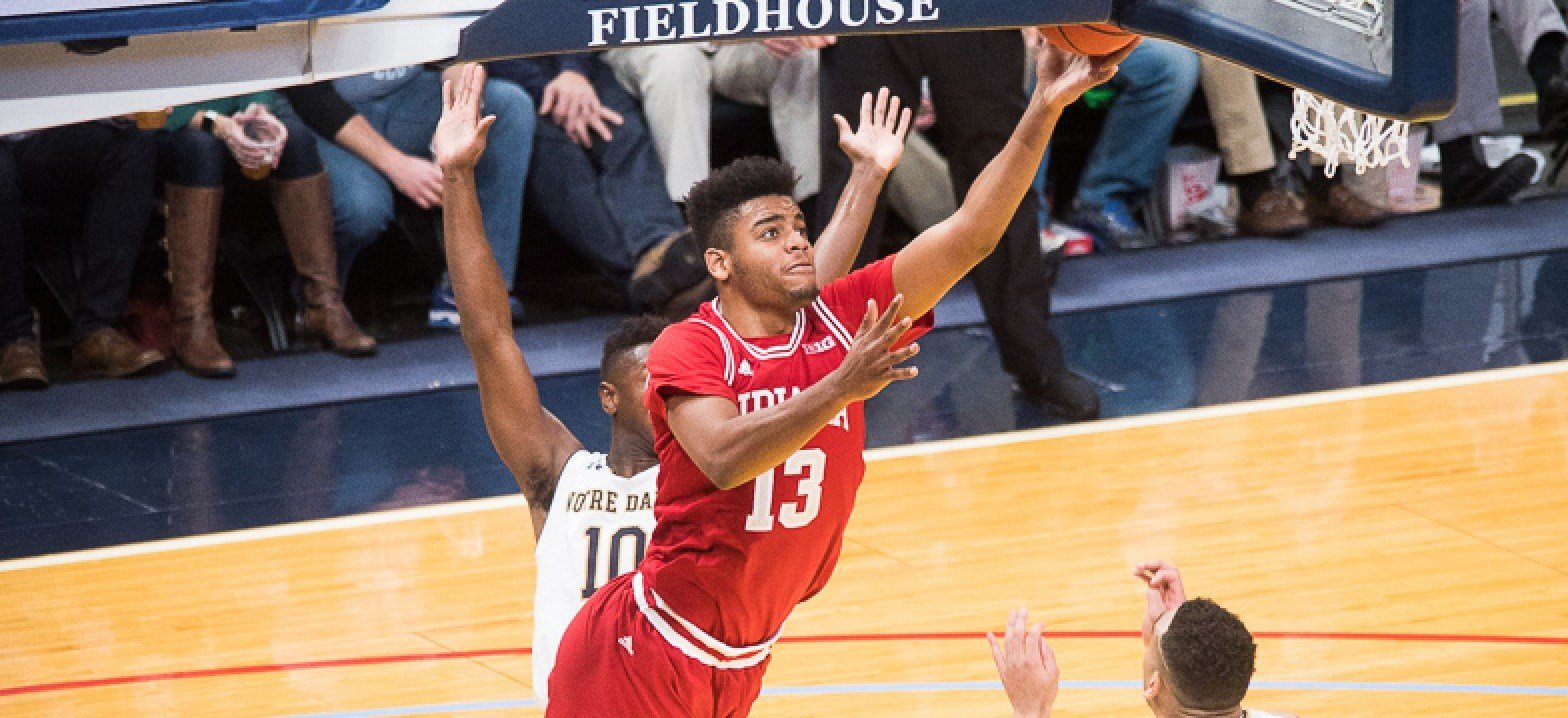 Juwan Morgan scored 34 points to lead Indiana past Notre Dame in overtime. (Jamie Owens photo)