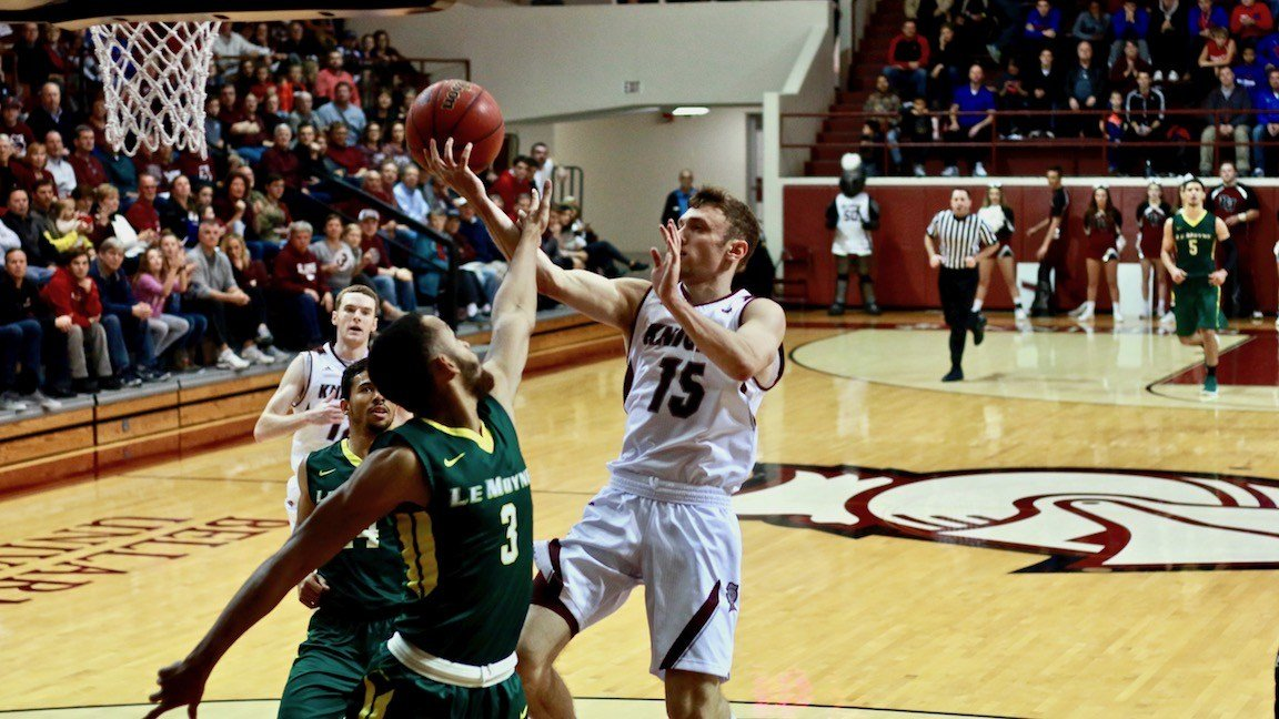 Brent Bach led Bellarmine with 17 points in Monday's win over Le Moyne (WDRB photo by Eric Crawford)
