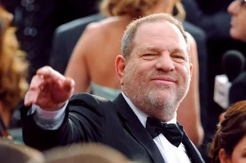(Photo by Vince Bucci/Invision/AP, File). FILE - In this Feb. 22, 2015, file photo, Harvey Weinstein arrives at the Oscars at the Dolby Theatre in Los Angeles.