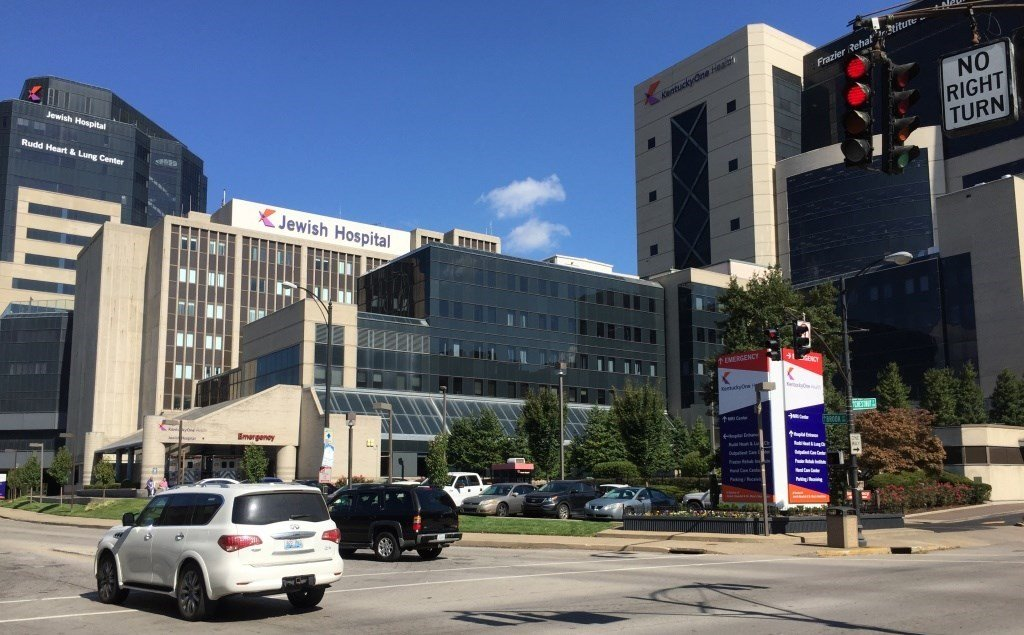 KentuckyOne Health owns Jewish Hospital in downtown Louisville, shown here in October 2016.